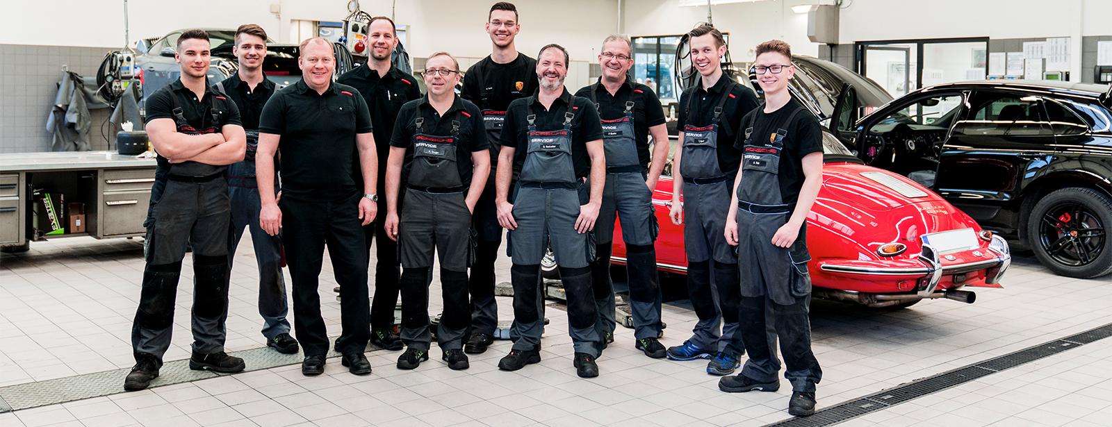 Unser Werkstatt Team